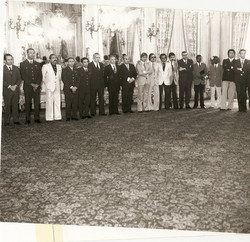 Componenti del Progetto San Marco ricevuti al Quirinale dal Presidente Giovanni Leone