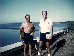 Tony Caporale (NASA Goddard) e Umberto Tricarico, Campo Base 1972