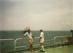 M. Sirinian e R. Virno Lamberti su ponte San Marco.jp