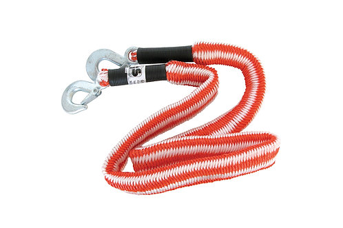 Tow rope Stretch 2800 kg 1.5-4 meters + safety hooks