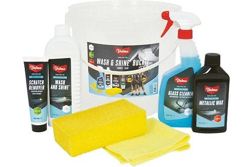 Valma Wash & Shine Emmer 6-delig Kit Set - Schoonmaak Pakket
