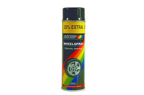 Velgenlak Mat zwart 500 ml  - spuitbus MoTip