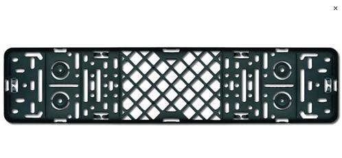 License plate holder Premium for Car - Black 52 x 11 cm - Universal
