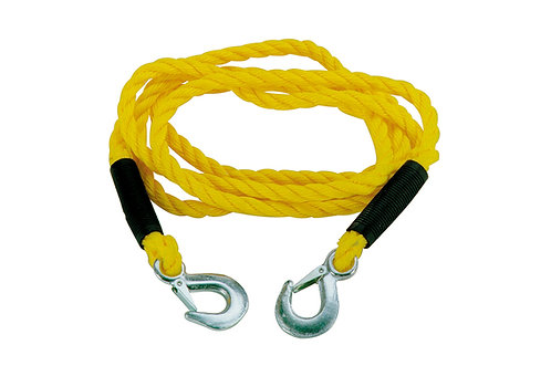 Tow rope 18 mm, 5000 kg, 3 meters + safety hooks