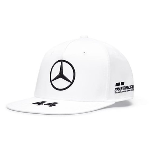 Petronas Hamilton Flat Brim Cap Wit Origineel Mercedes-AMG Collection