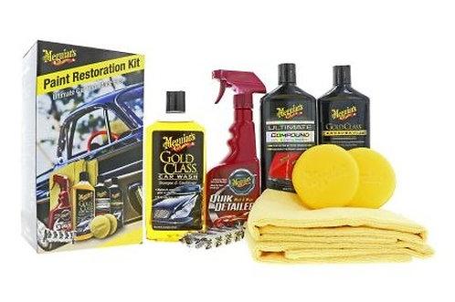 Meguiars Paint Restoration Kit (9-delig) - Shampoo wax compund pads