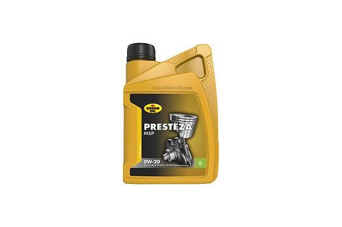 Kroon Presteza motorolie MSP 0W-20 - 1 liter