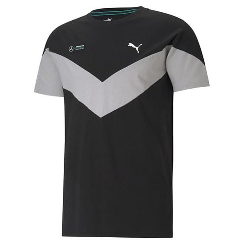 AMG Petronas T-Shirt Heren Zwart - Puma Origineel Mercedes-Motorsport collection