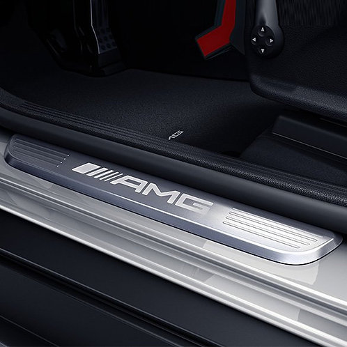 Genuine Mercedes Benz - LED AMG door sill plates C-class W205 / S205
