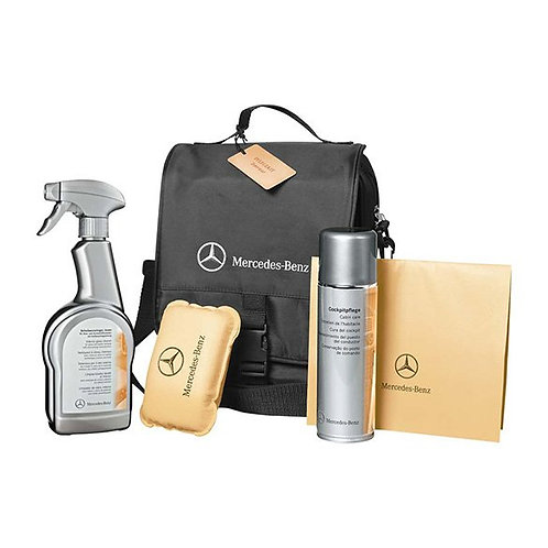 Mercedes Benz interieur reiniging - verzorging poets pakket Set Kit + Tas
