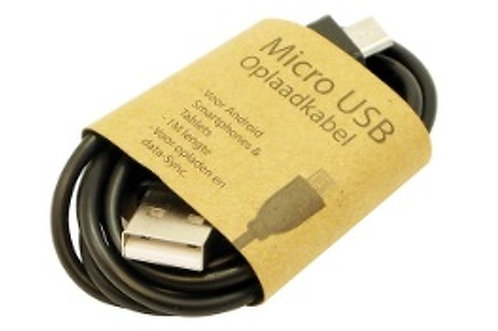 Charging cable Micro USB 1 meter Black