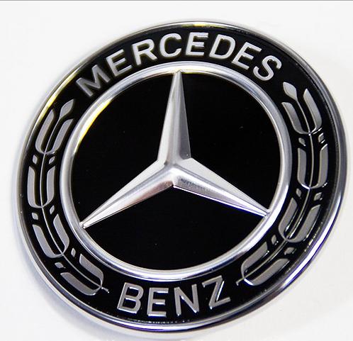 Original Mercedes Benz bonnet star - Black