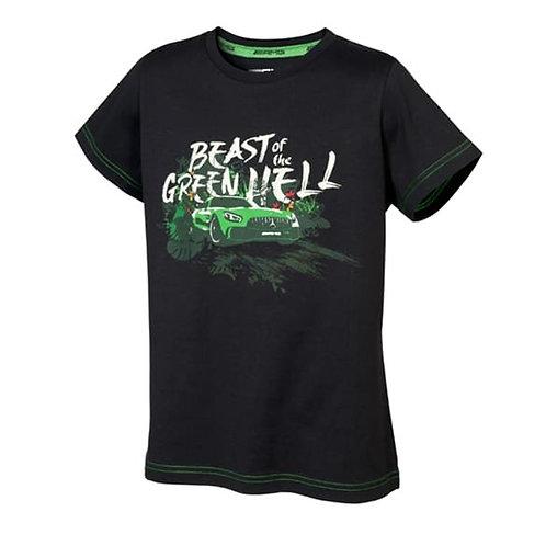 Origineel Mercedes Benz AMG GT kinder T-shirt Beast of the Green hell