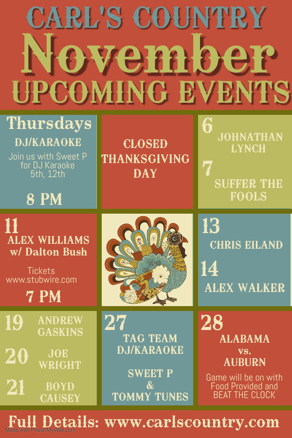 Copy of November Upcoming Events - Made
