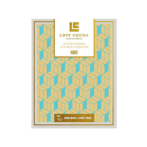 Love Cocoa - Salted Caramel 41% Milk Chocolate Bar