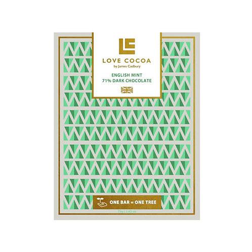 Love Cocoa - English Mint 71% Dark Chocolate Bar (Vegan)