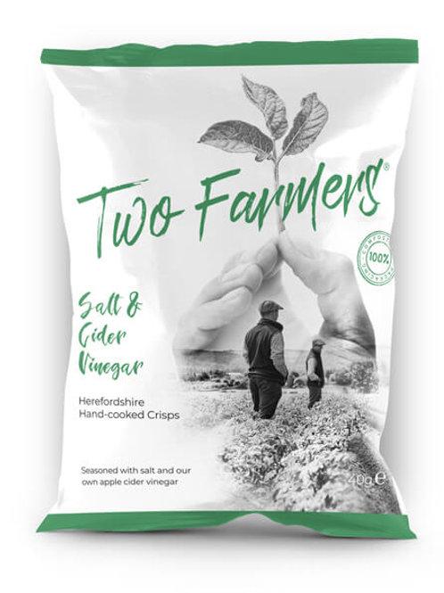 Two Farmers  Salt & Cider Vinegar Crisps 40g
