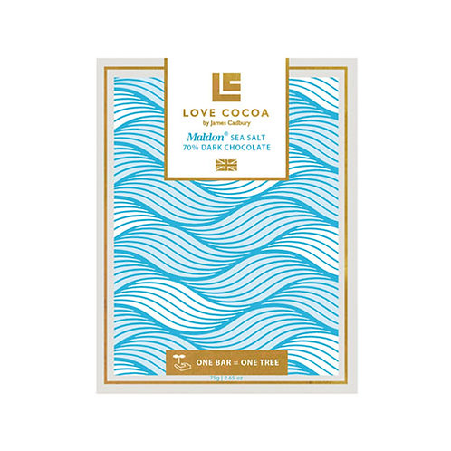 Love Cocoa - Maldon Sea Salt 70% Dark Chocolate Bar (Vegan)