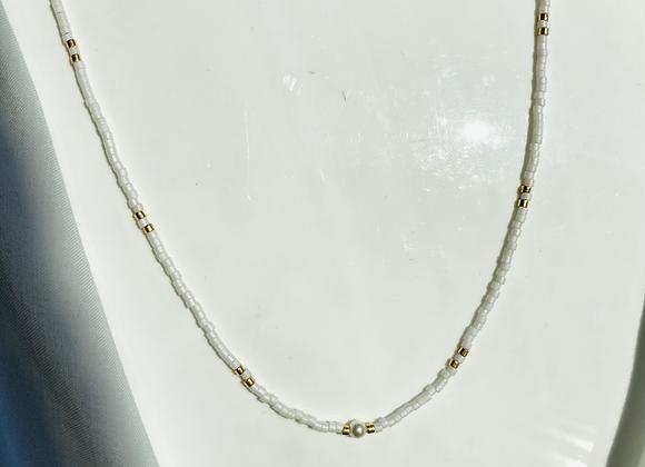 Collier perlé white