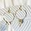 Thumbnail: Boucles d'oreilles perlées gris et doré rose
