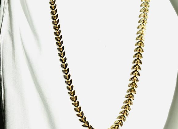 Collier Feuilles doré à l'or fin