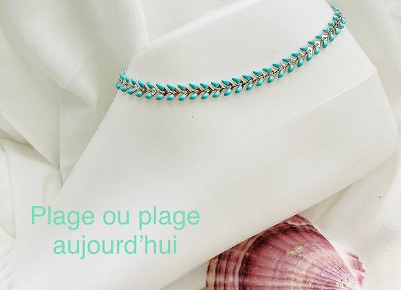 Bracelets de Cheville Feuilles