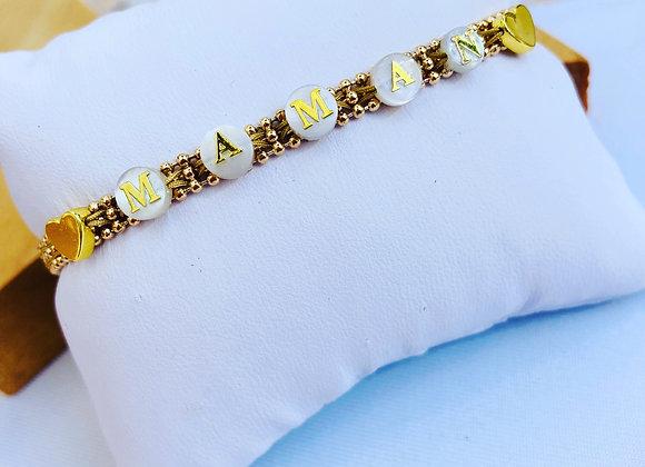 Bracelet chainette Maman