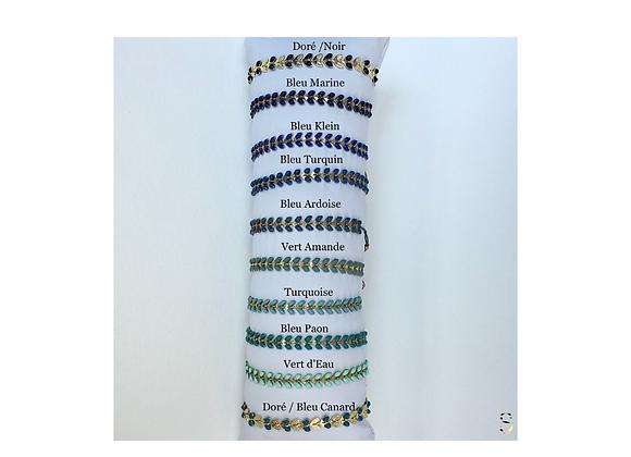 Bracelets Feuilles Harmonie de Bleus