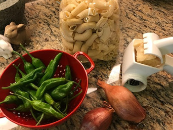 Friday Feast   Shishito Peppers and Pasta