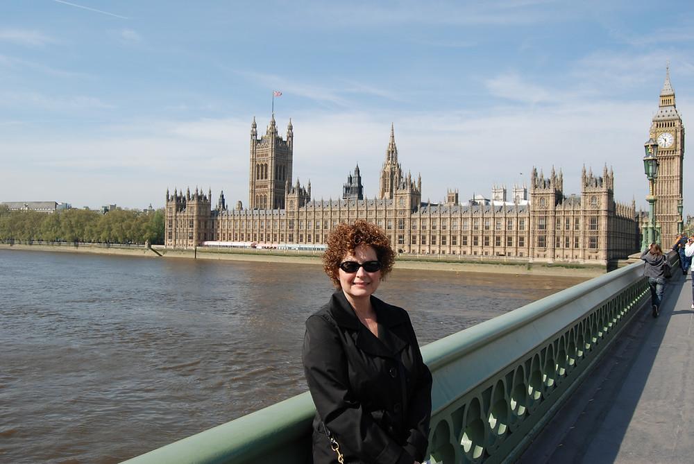 Mary in London. Photo by John Morgan