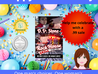 "Happy Book Birthday for ""Rock House Grill"" by D.V. Stone"