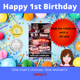 """Happy Book Birthday for """"Rock House Grill"""" by D.V. Stone"""