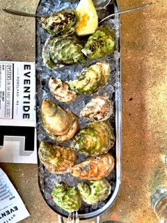 Dozen Oysters at Eventide Portland Maine