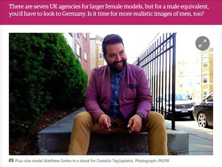 Where at all the plus size male models?   The Guardian