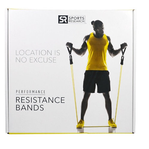 Sports Research Bandes de résistance pour la performance, 5 bandes