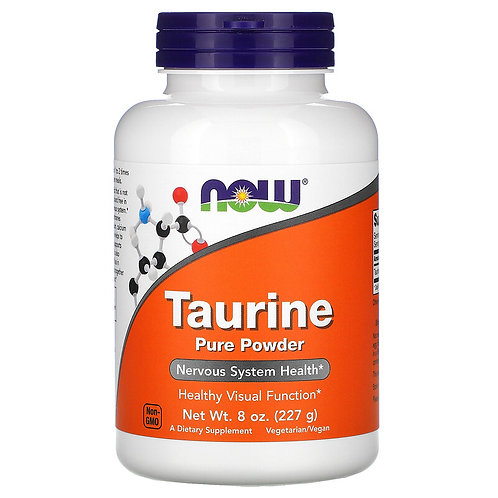 Now Foods, Taurine pure en poudre, 227 g