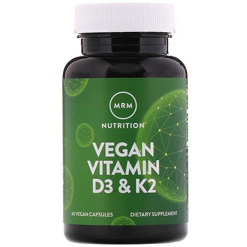 MRM, Vitamine D3 & K2 vegan, 60 capsules