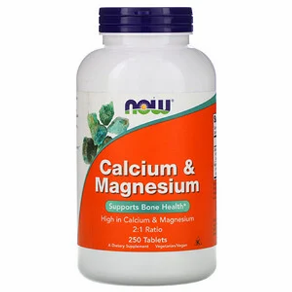 Now Foods, Calcium et magnésium, 250 comprimés