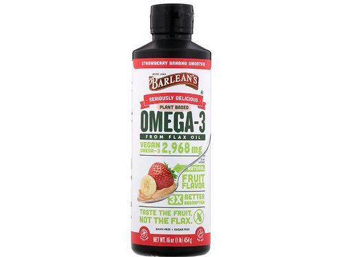 Barlean's Oméga-3 issu de l'huile de lin, Saveur smoothie à la banane