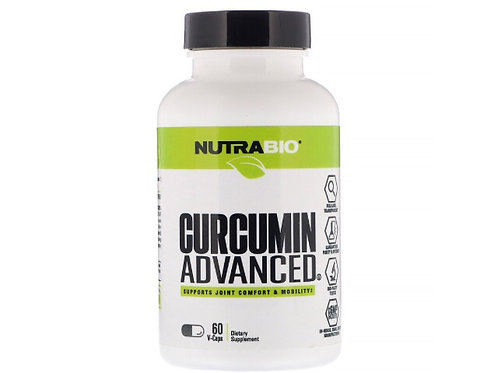 NutraBio CURCUMIN ADVANCED 30 services 60 capsules