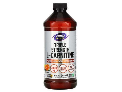 Now Foods Sports, Triple Strength L-Carnitine Liquid, Citrus, 3,000 mg, 16 fl oz