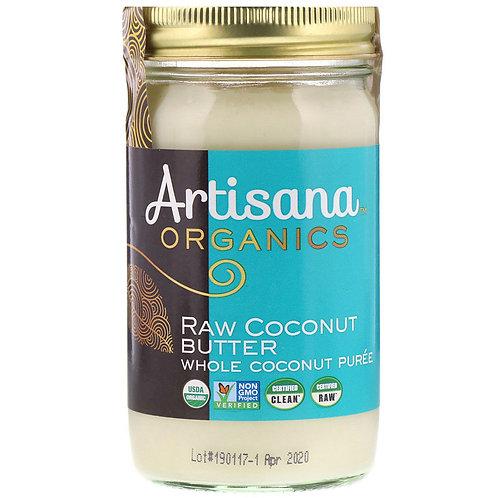 Artisana, Biologique, beurre de coco naturel, pot en verre 397 g