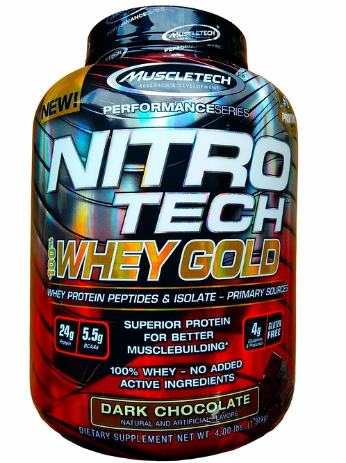 MuscleTech Nitro-Tech 100% Whey Gold - 1810g  Chocolat Noir