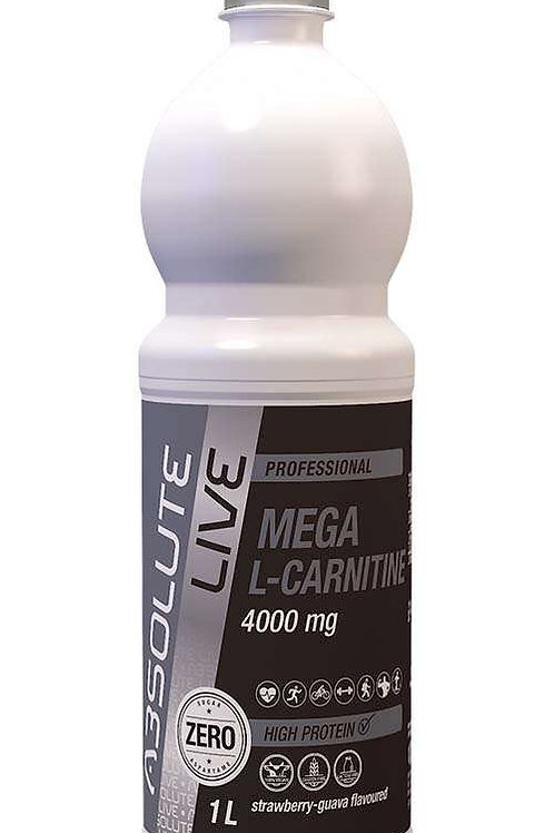ABSOLUTE LIVE MEGA L-CARNITINE  4000mg goût stawberry-guava 1000ML