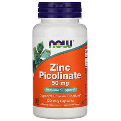 Now Foods, Picolinate de zinc, 50 mg, 60 capsules végétariennes