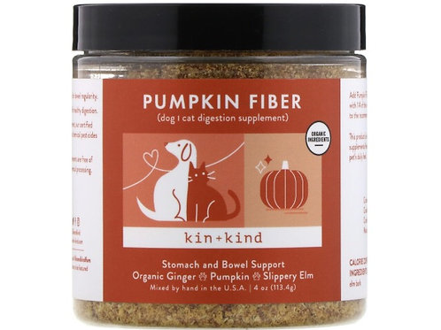 Kin+Kind Pumpkin Fiber, Fortifiant pour l'estomac et les intestins, 113,4 g