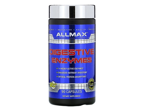 Allmax Nutrition Digestive Enzymes + Protein Optimizer, 90 Capsules