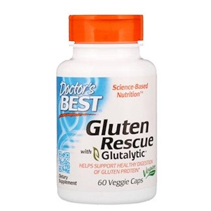Doctor's Best, Gluten Rescue with Glutalytic, 60 Veggie Caps