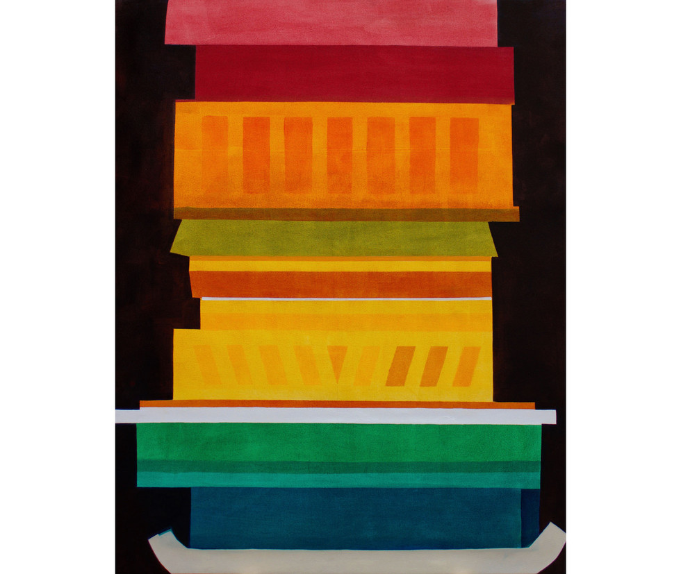 The cake II, oil on canvas, 54 x 43 inches, 2016