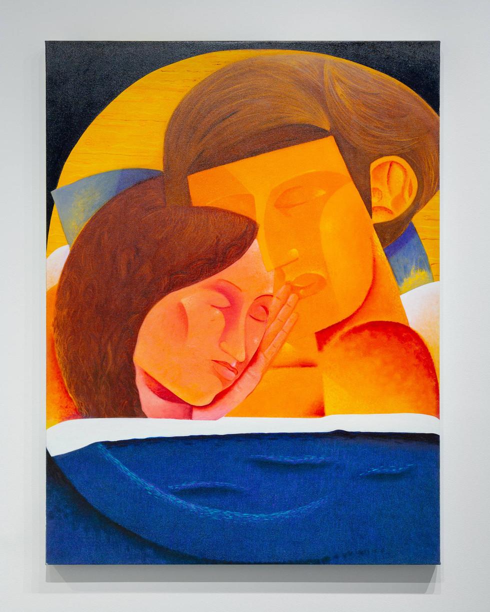 Sleep, oil on canvas, 52 x 40 inches, 2020